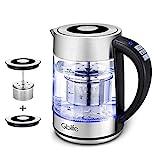 Wasserkocher 2200W 1,7L Edelstahl Glaswasserkocher Gblife...