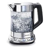 Arendo - Glas Wasserkocher mit Temperatureinstellung -...