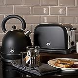 Ovation schwarz/silber groß Schnell kochen Dome Wasserkocher +...