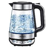 Glas Wasserkocher mit Temperatureinstellung und Warmhaltefunktion (2...