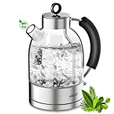 Wasserkocher Glas Elektrische Teekocher Retro Glaswasserkocher Kettle...
