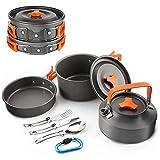 LHY Camping-Kochgeschirr-Kit, Outdoor-Kochgerät mit Wasserkocher,...