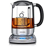 Arendo - Glas Wasserkocher mit Auto Lift Funktion - Teekocher mit...