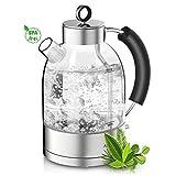ASCOT Glas Wasserkocher-Wasserkocher Retro Elektrische Teekocher...