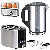 TronicXL Wasserkocher + 2-Schlitz Toaster mit Brötchen-Aufsatz +...