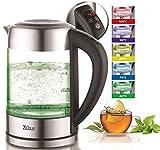 Glas Wasserkocher 1,7 Liter | 100% BPA FREI | 2200 Watt | LED...