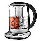 Willsence Wasserkocher Glas, Teekocher (2200W, 1.7 Liter, 6...
