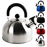 Krollmann 2,5 Liter Edelstahl Flötenkessel Teekessel Wasserkocher...