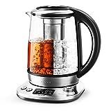 Aicook Wasserkocher 1.7L Edelstahlglas Teekocher Intelligente...