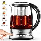 Aicook Glas Wasserkocher, 1.7L wasserkocher mit temperatureinstellung,...