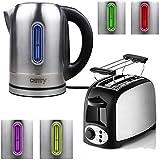 TronicXL Wasserkocher Toaster Set Edelstahl - Mit...