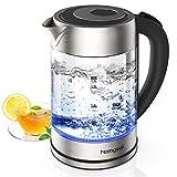 Wasserkocher, Homgeek Wasserkocher Glas Elektrisch 2200W/1.7L, mit...