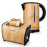 Klarstein Bamboo Garden Frühstücksset Wasserkocher + Toaster...