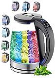 Glas Wasserkocher 1,7 Liter | 2200 Watt | 100% BPA FREI | Edelstahl...