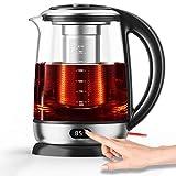 AICOOK Wasserkocher, 1,7 l Glas-Teekessel-Temperaturregelung mit...