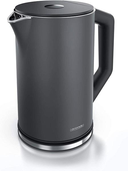 Arendo Wasserkocher Edelstahl mit Temperatureinstellung